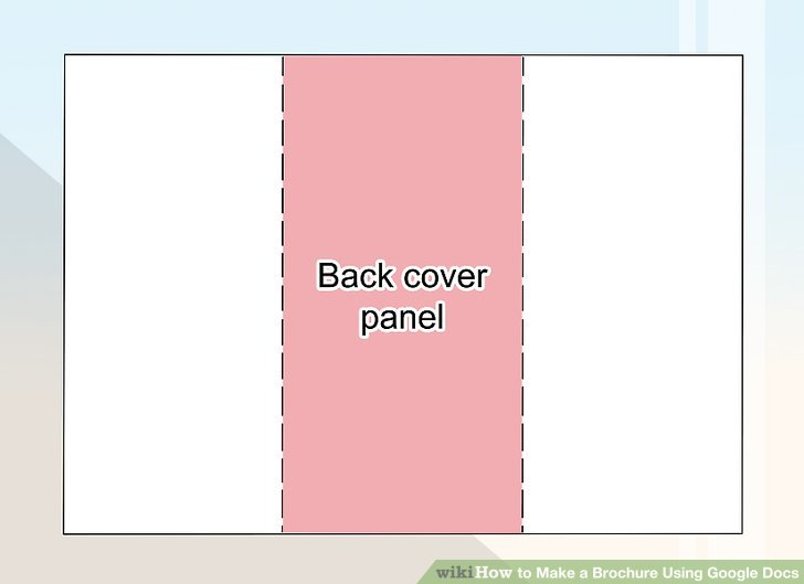 How to Make a Brochure Using Google Docs - wikiHow - google docs pamphlet template