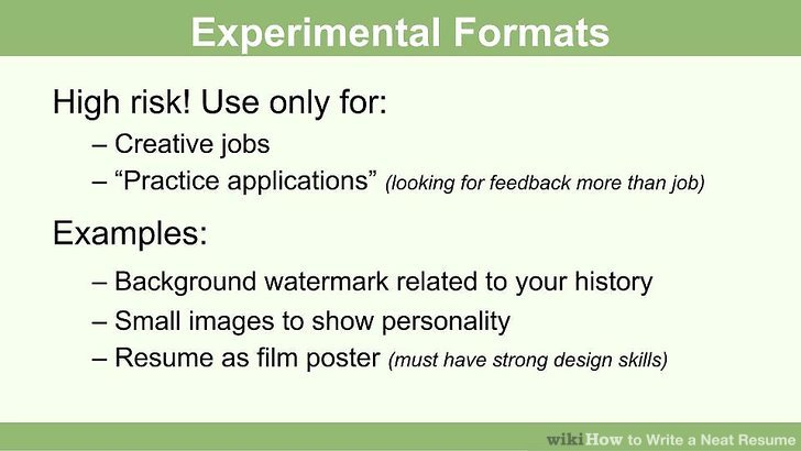 How to Write a Neat Resume 13 Steps (with Pictures) - wikiHow