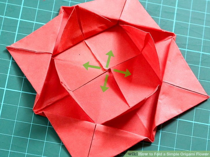 how to fold a paper flower step by step