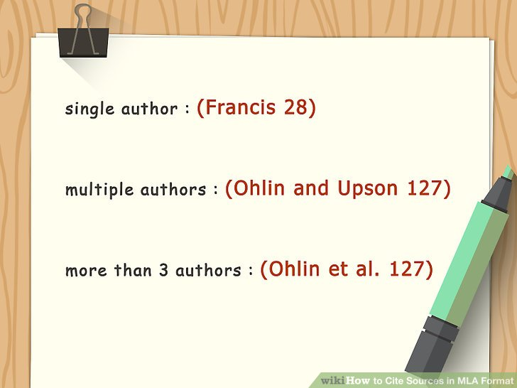 How to Cite Sources in MLA Format (with Pictures) - wikiHow - Mla Format For Citations