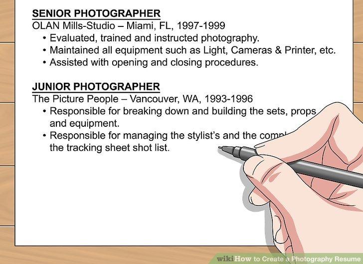 junior photographer resume photographer resume template 17 free - Junior Photographer Resume