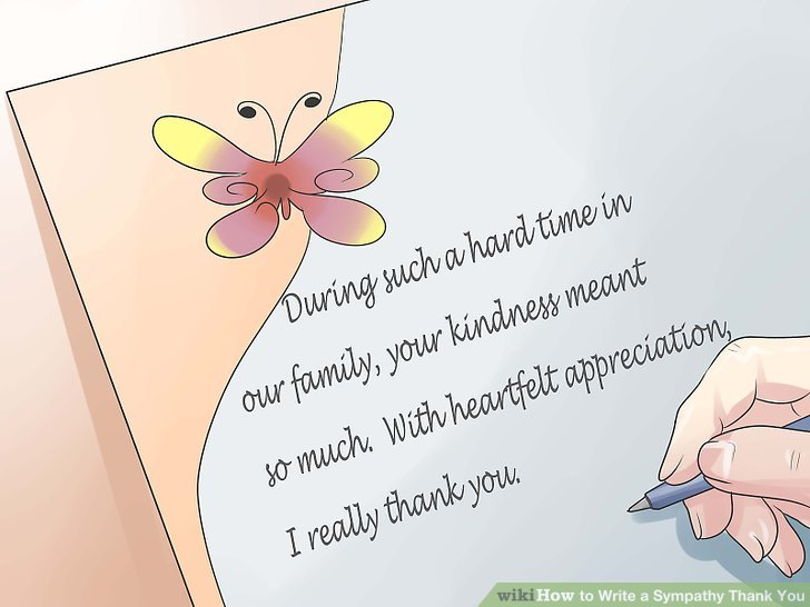 How to Write a Sympathy Thank You (with Examples) - wikiHow
