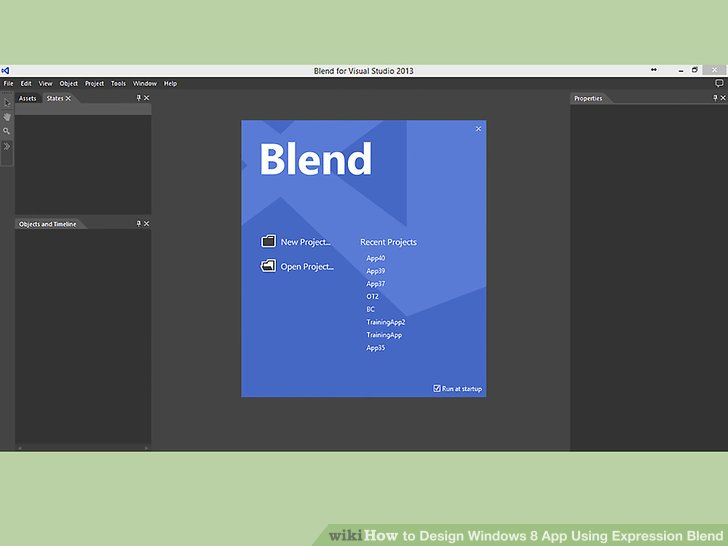 How to Design Windows 8 App Using Expression Blend (with Pictures)