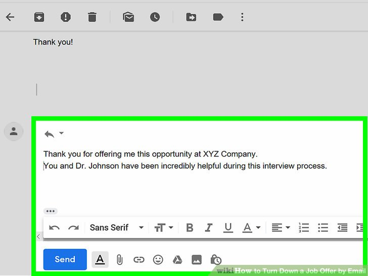 How to Turn Down a Job Offer by Email 7 Steps (with Pictures)