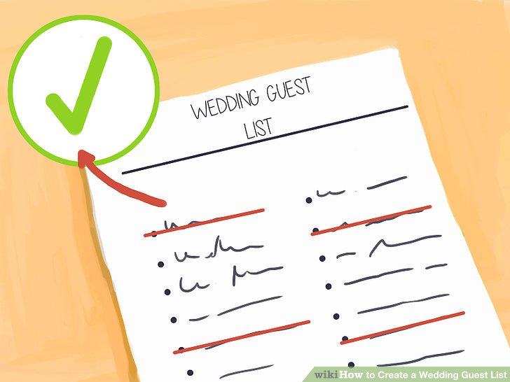 How to Create a Wedding Guest List 12 Steps (with Pictures)