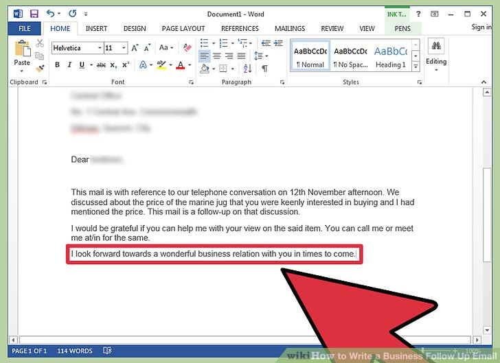 How to Write a Business Follow Up Email 14 Steps (with Pictures) - follow up email after phone call
