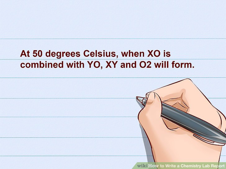 How to Write a Chemistry Lab Report 14 Steps (with Pictures)