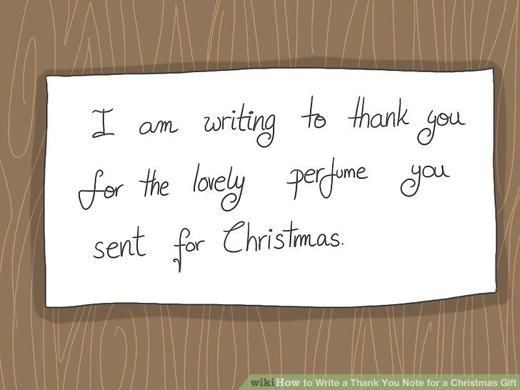 How to Write a Thank You Note for a Christmas Gift 14 Steps - thank you note
