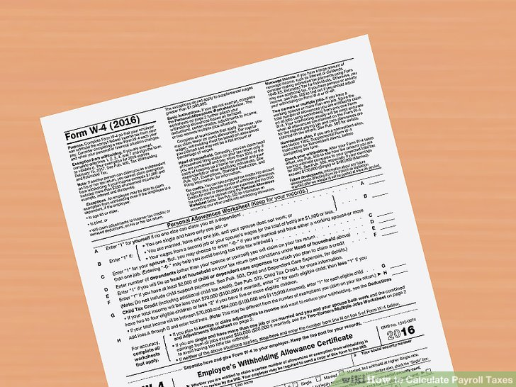 4 Easy Ways to Calculate Payroll Taxes (with Pictures) - ga payroll calculator