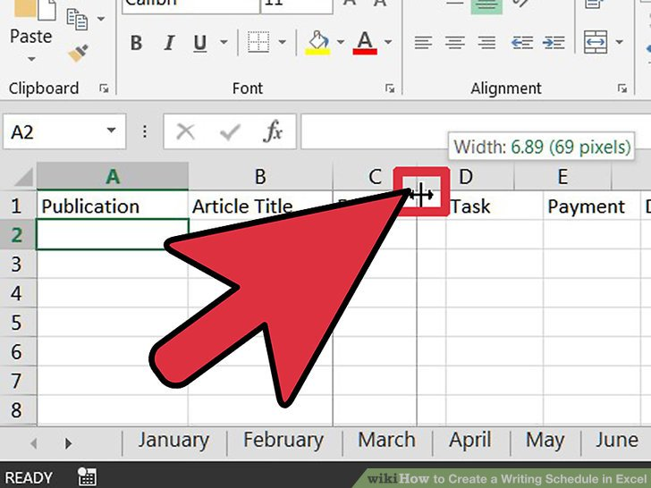 How to Create a Writing Schedule in Excel 7 Steps (with Pictures) - create schedule