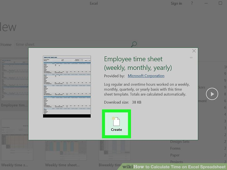 How to Calculate Time on Excel Spreadsheet (with Pictures) - how to calculate time sheets