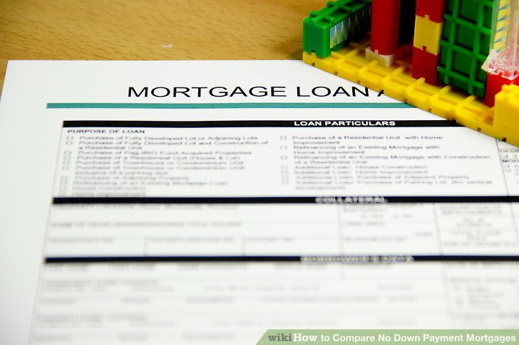 How to Compare No Down Payment Mortgages 10 Steps (with Pictures)