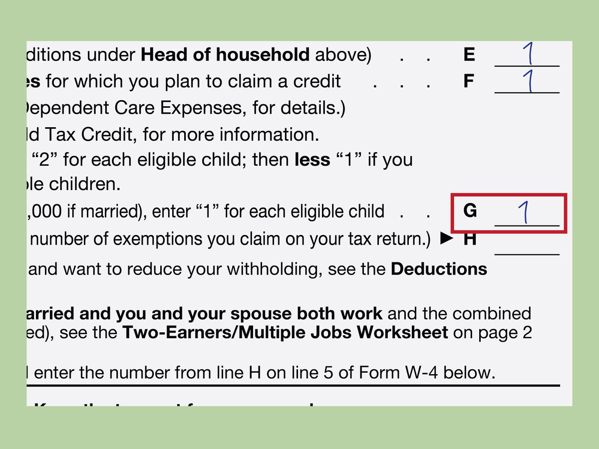 How to Fill Out a W 4 – HowT