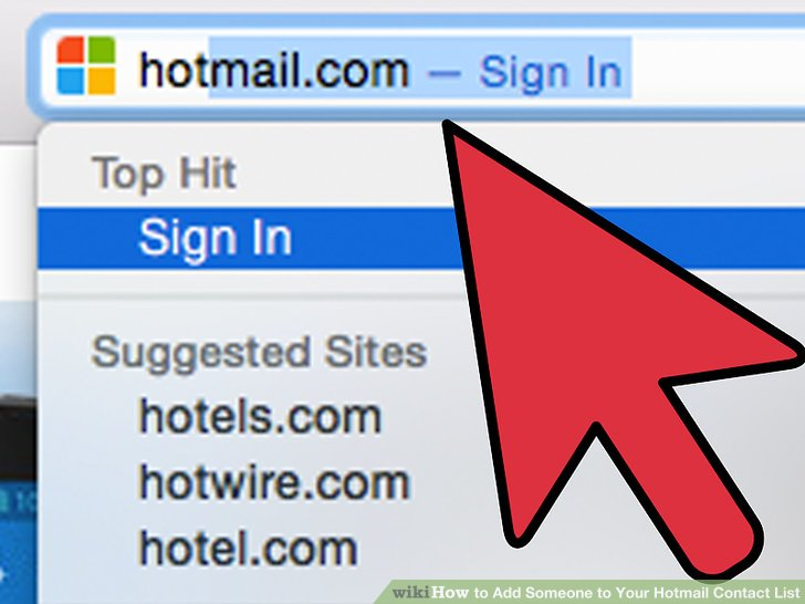 How to Add Someone to Your Hotmail Contact List 12 Steps - contact list