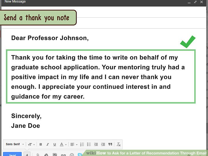 how to ask for letter of recommendation from professor