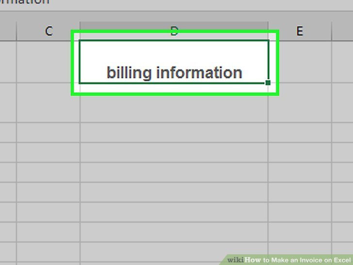 4 Ways to Make an Invoice on Excel - wikiHow