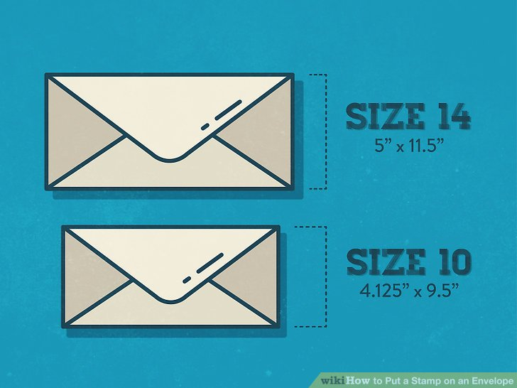 3 Ways to Put a Stamp on an Envelope - wikiHow
