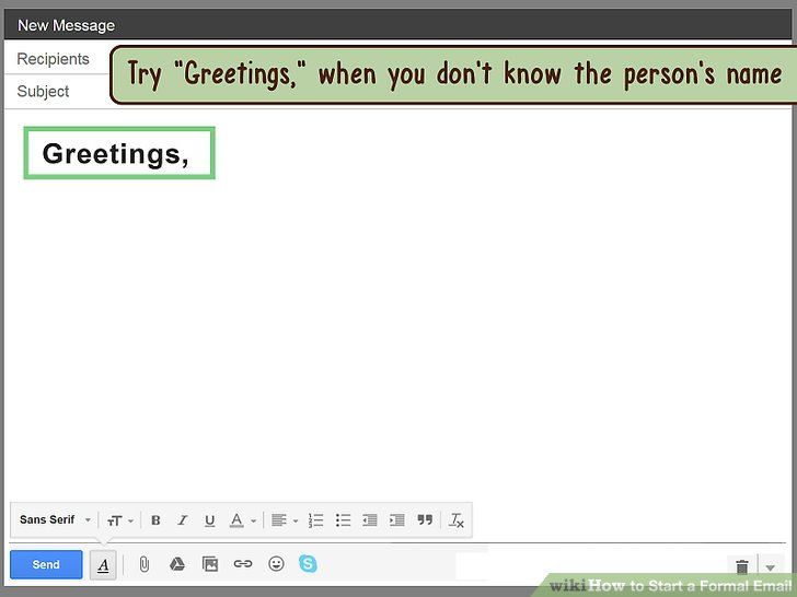 How to Start a Formal Email 14 Steps (with Pictures) - wikiHow