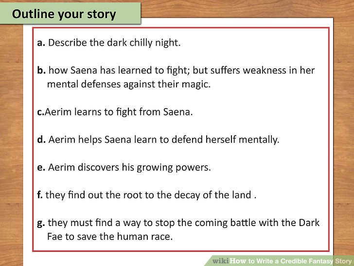 How to Write a Credible Fantasy Story (with Examples) - wikiHow