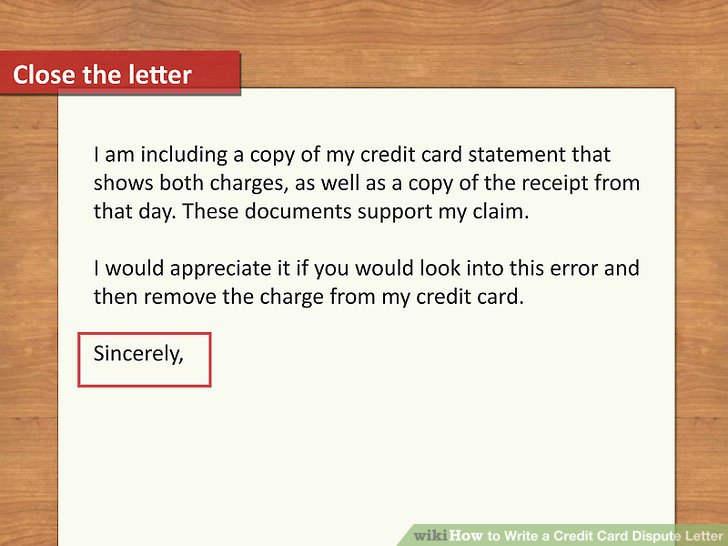 How to Write a Credit Card Dispute Letter (with Pictures)