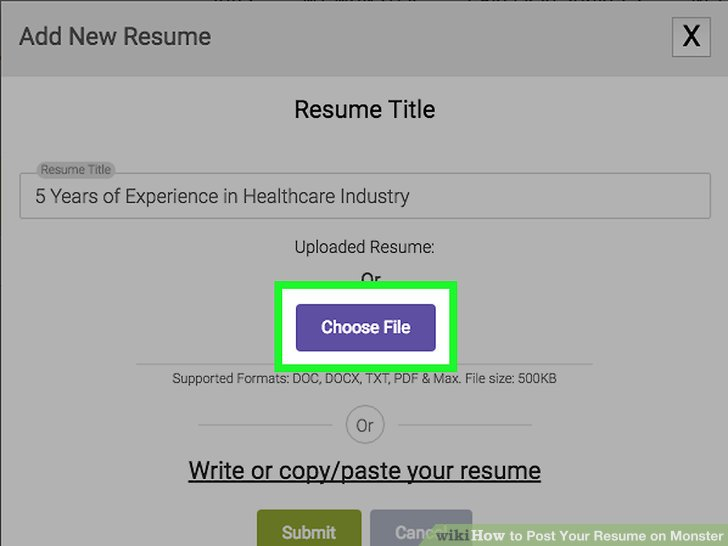 How to Post Your Resume on Monster 15 Steps (with Pictures) - monster post resume