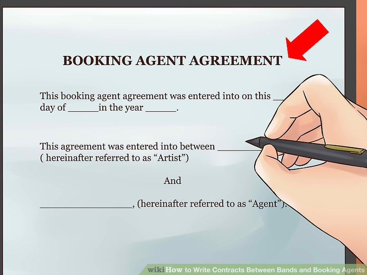 How to Write Contracts Between Bands and Booking Agents 14 Steps - Booking Agent Contract Template