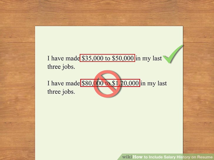 How to Include Salary History on Resume 11 Steps (with Pictures) - salary requirements in resume