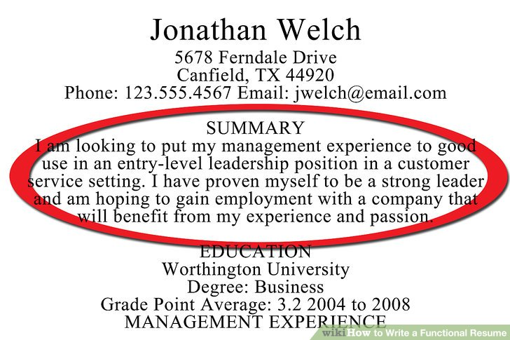 How to Write a Functional Resume (with Sample Resumes) - wikiHow - resume functional summary examples