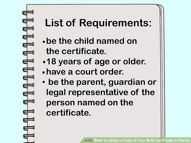 3 Ways to Obtain a Copy of Your Birth Certificate in Florida - birth certificate