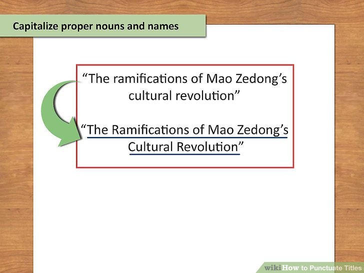 3 Ways to Punctuate Titles - wikiHow