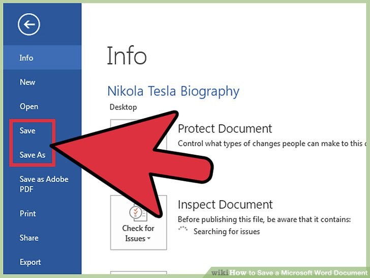 How to Save a Microsoft Word Document (with Pictures) - wikiHow