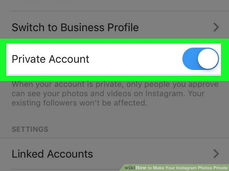 How to Make Your Instagram Photos Private 5 Steps (with Pictures) - how to make business profile