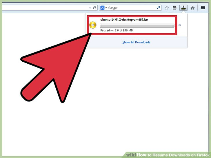 How to Resume Downloads on Firefox 4 Steps (with Pictures) - resume downloads