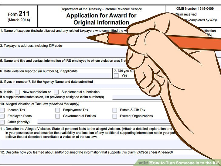 How to Turn Someone in to the IRS 12 Steps (with Pictures) - irs complaint form