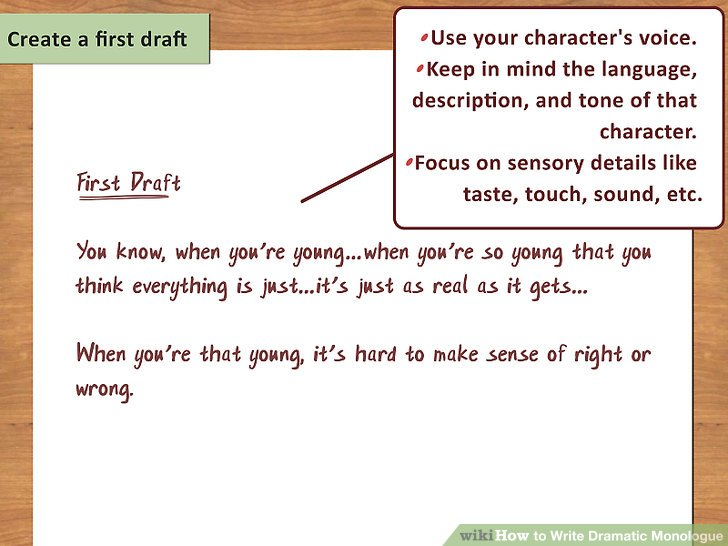 How To Write Dramatic Monologue With Pictures Wikihow