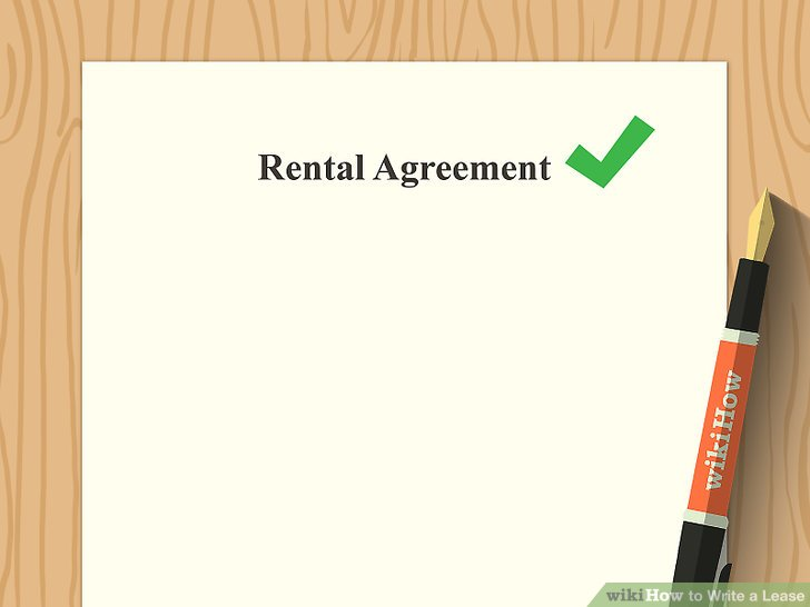 How to Write a Lease (with Pictures) - wikiHow