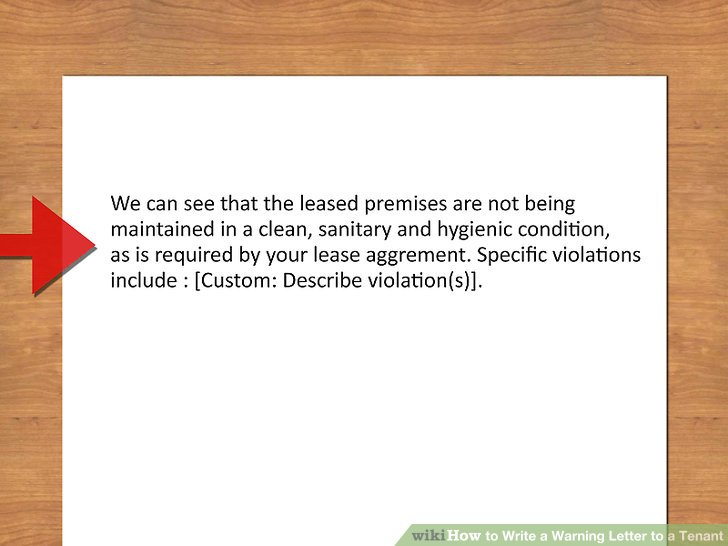 3 Ways to Write a Warning Letter to a Tenant - wikiHow - ten terms to include in your lease