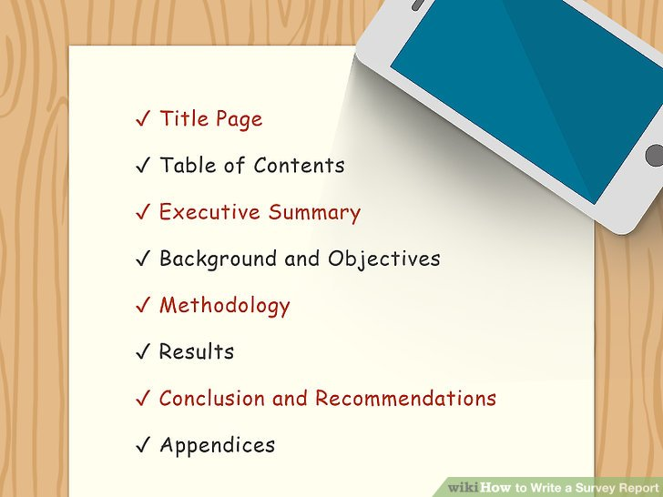 How to Write a Survey Report (with Pictures) - wikiHow