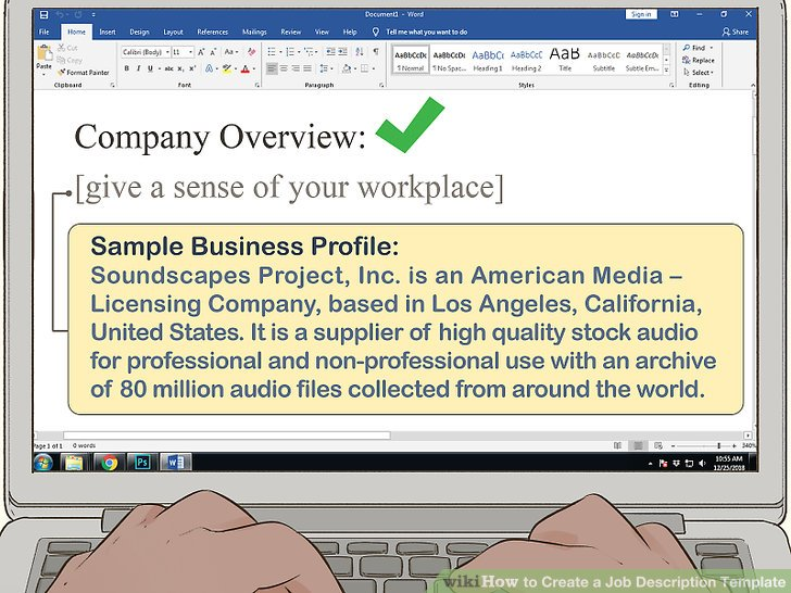 How to Create a Job Description Template (with Pictures) - wikiHow