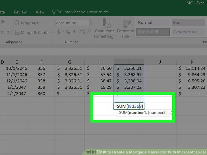 3 Ways to Create a Mortgage Calculator With Microsoft Excel - excel mortgage calculator