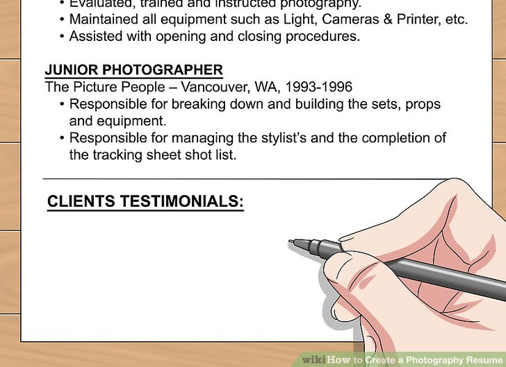 How to Create a Photography Resume (with Pictures) - wikiHow - building a resume
