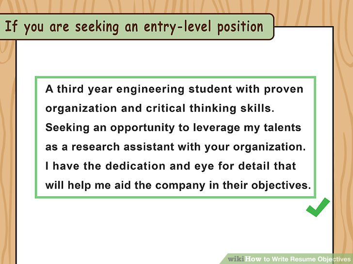 How to Write Resume Objectives (with Examples) - wikiHow - Write My Resume For Me