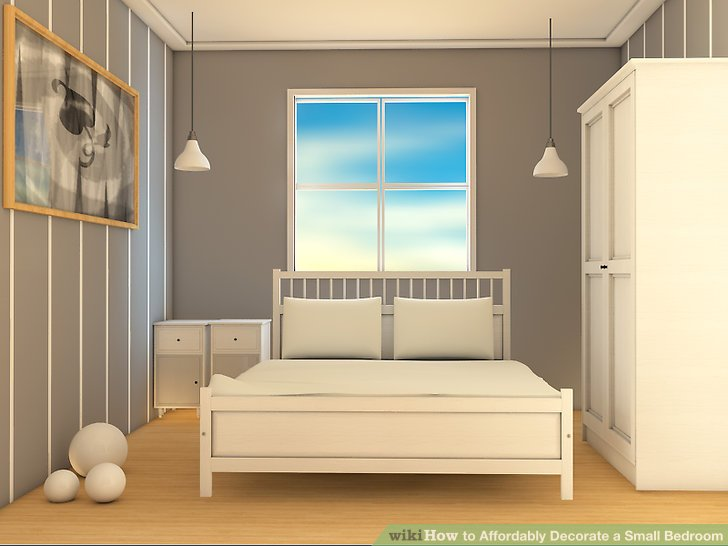 3 Ways To Affordably Decorate A Small Bedroom Wikihow