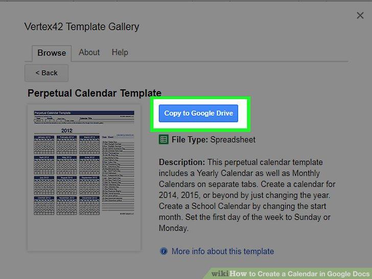 The 2 Best Ways to Create a Calendar in Google Docs - wikiHow - school calendar creator