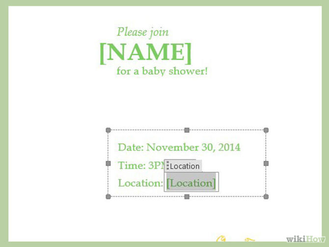 How to Make a Baby Shower Invitation Template Using Microsoft Word - baby shower invitation template microsoft word