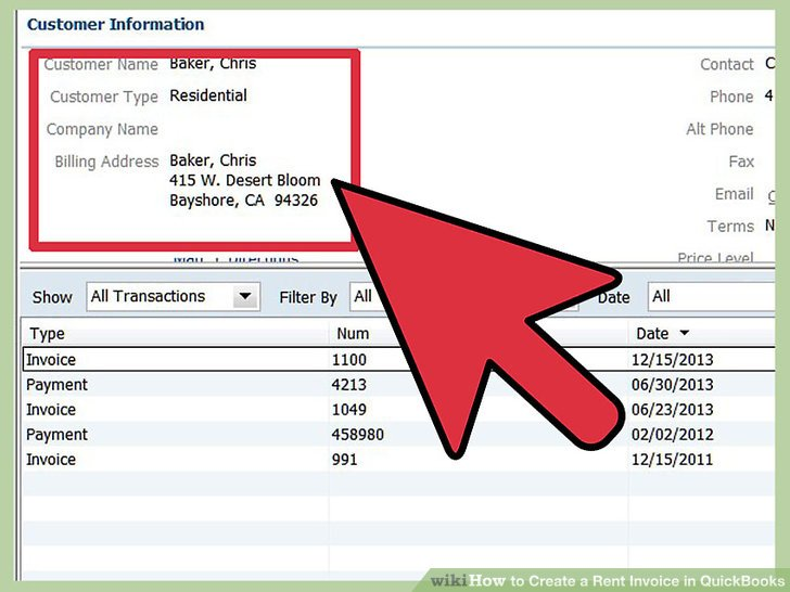 How to Create a Rent Invoice in QuickBooks 10 Steps - invoice for rent