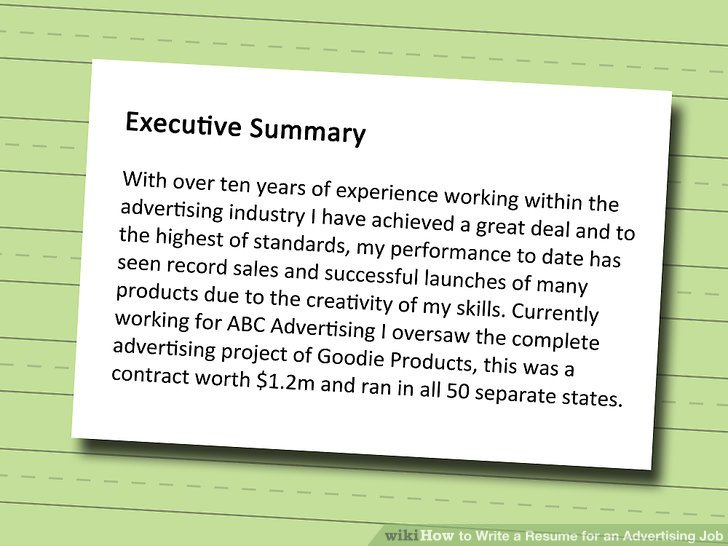 3 Ways to Write a Resume for an Advertising Job - wikiHow - how to write skills on resume