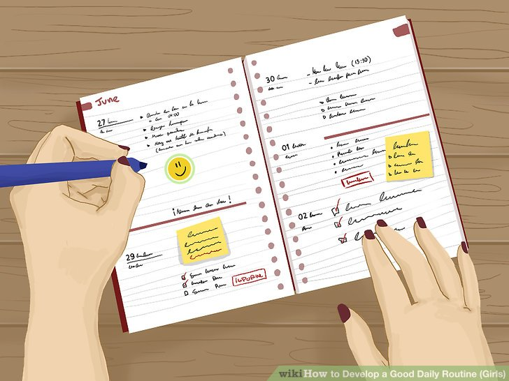 How to Develop a Good Daily Routine (Girls) 13 Steps