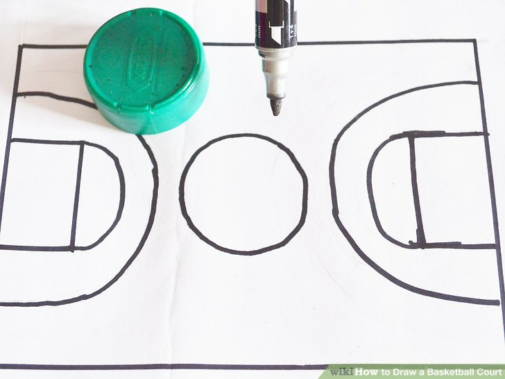 How to Draw a Basketball Court 6 Steps (with Pictures) - wikiHow