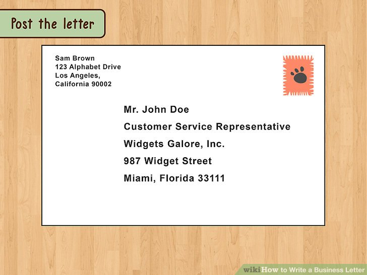 The Best Way to Write and Format a Business Letter - wikiHow